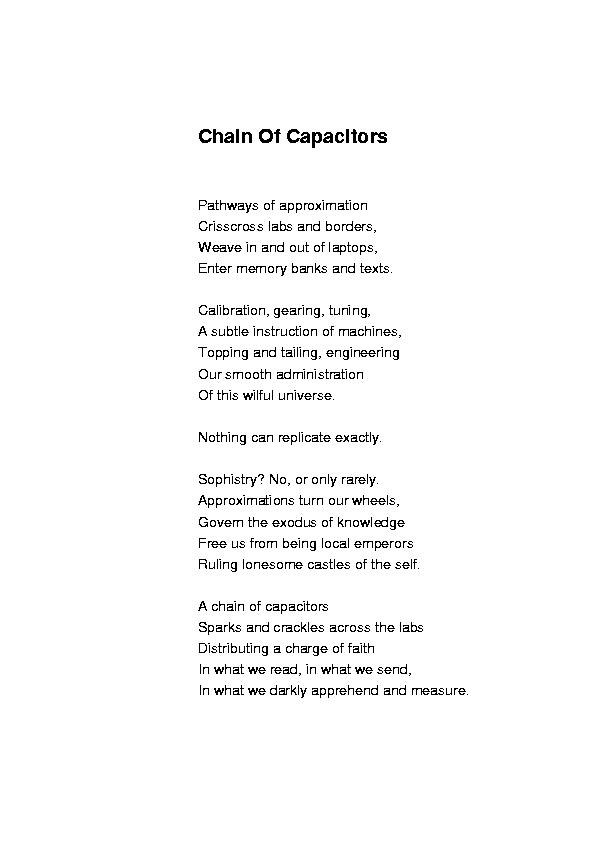 Chain of Capacitors
